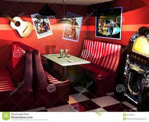 Antique White Coffee Table Fifties Restaurant Stock Illustration Image 40135524