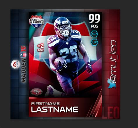 madden custom card template how to make templates for programs graphics topic
