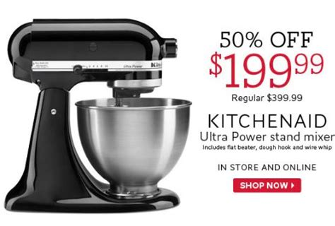 The Bay Canada: Kitchen Aid Mixer 50% Off Thru July 26th