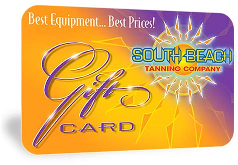 gift cards south beach tanning company - Tanning Gift Cards
