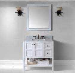 virtu usa 36 inch winterfell square sink vanity in white