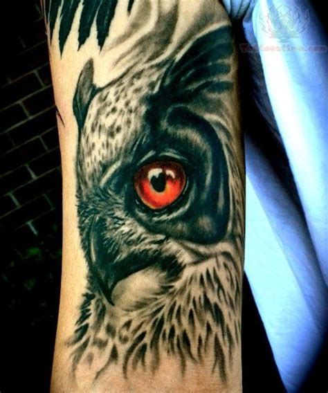 red eye tattoo eye owl