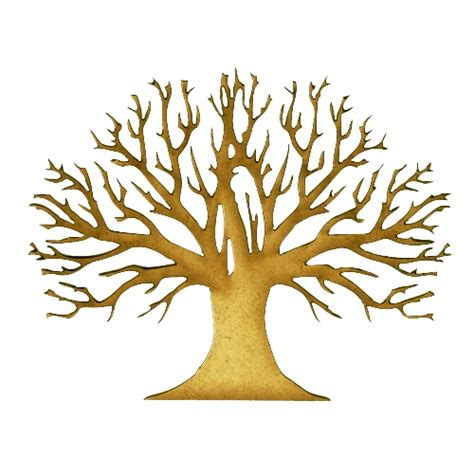 skeleton tree mdf wood shape style 10