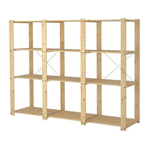 gorm 3 sections shelves ikea untreated wood can be