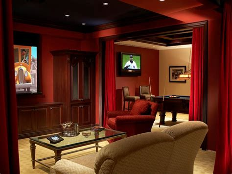 Cinema Themed Living Room by 10 Masculine And Sports Themed Home Theaters Diy