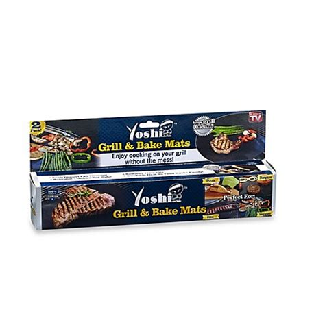 bed bath and beyond grill yoshi 174 2 piece grill and bake mat set bed bath beyond