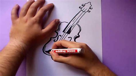 imagenes a lapiz de violines como dibujar un violin paso a paso how to draw a violin