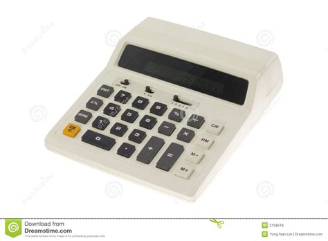 calculator x10 3 old fashioned calculator royalty free stock photos image