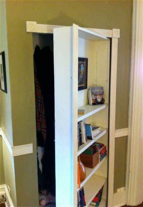 swinging bookcase door plans diy   plans