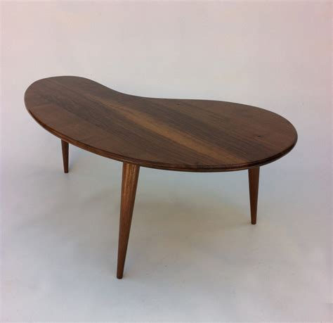 tables design mid century modern coffee table solid walnut kidney bean
