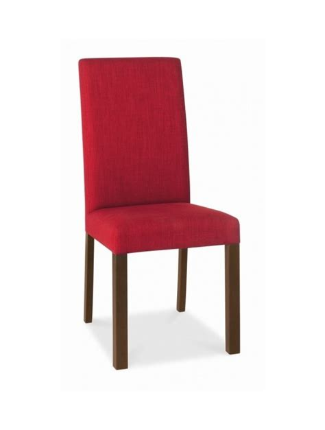 Bentley Designs Parker Walnut Square Back Red Bentley Dining Chairs