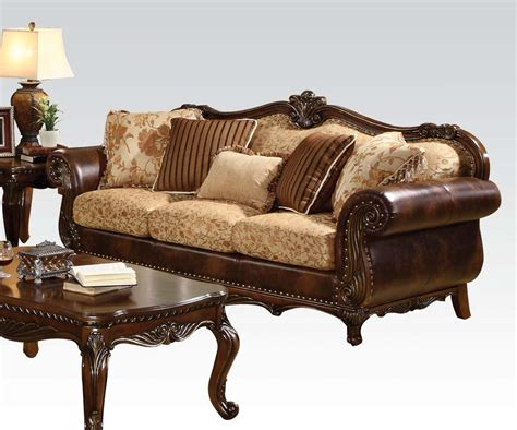 traditional leather sofa leather and fabric sofa sets