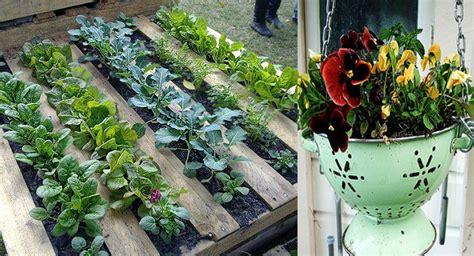 imagenes de huertas originales macetas y jardineras originales con material reciclado
