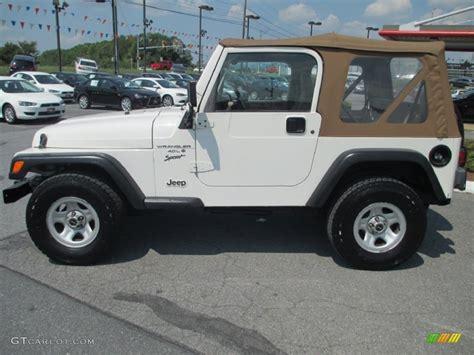 2001 white jeep wrangler sport 4x4 69727992 photo 2 gtcarlot car color galleries