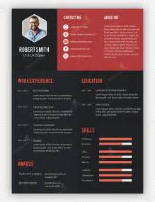 Cool Resume Template by Creative Professional Resume Template Free Psd Psdfreebies