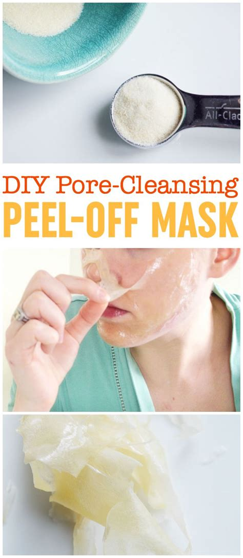 peel mask diy diy peel mask pore cleansing blackhead busting
