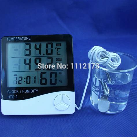 Hygrometer Thermometer Htc 1 Termometer Ruangan Digital Lcd htc 2 digital lcd thermometer hygrometer electronic temperature humidity meter weather station