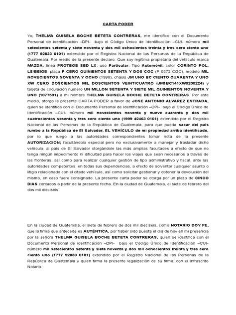ejemplo de carta poder notarial car pictures carta poder para vehiculo