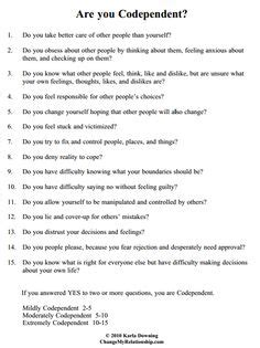 printable codependency quiz codependency worksheet casademateo