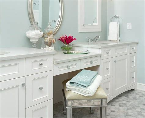 double vanity with makeup station stunning 10 double bathroom vanity with makeup station