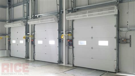 Air Curtains Rice Equipment Co Loading Dock Door Service