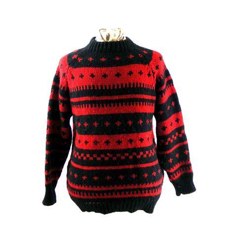 Sweater Retro retro scandinavian sweater blue 17 vintage fashion