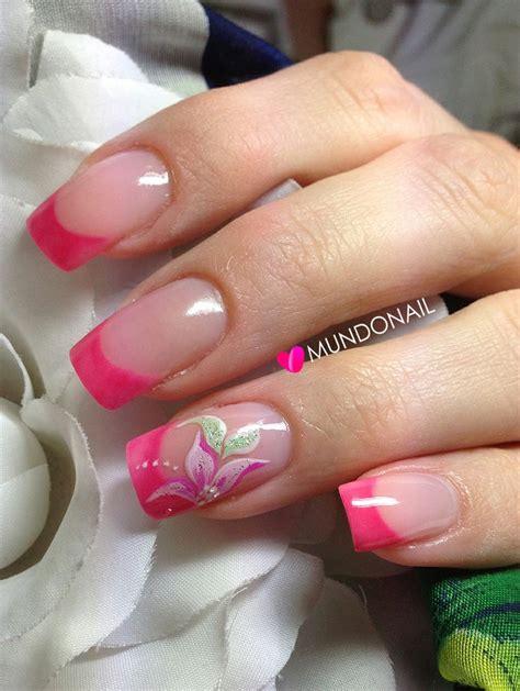 imagenes de uñas acrilicas faciles dise 241 os de u 241 as french rosa