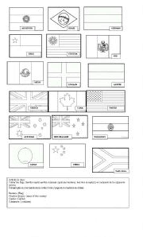 flags of the world exercise esl worksheets for beginners flags of the world