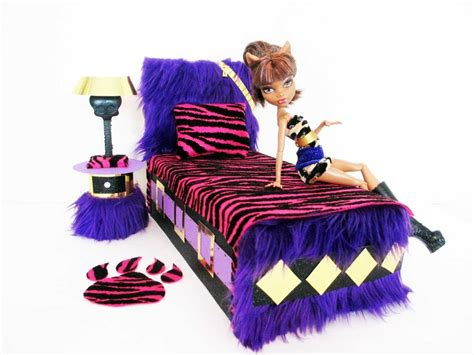 how to make a monster high bed how to make a clawdeen wolf doll bed tutorial monster