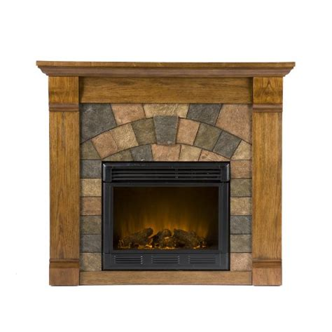 Oak Electric Fireplace by Antique Oak Electric Fireplace Remote Adjustable