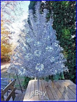 silver forest aluminum christmas tree vintage silver forest 6 pom pom style aluminum tree w color wheel