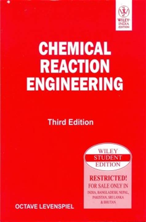 chemical engineering books purchase chemical reaction engineering 3rd edition buy