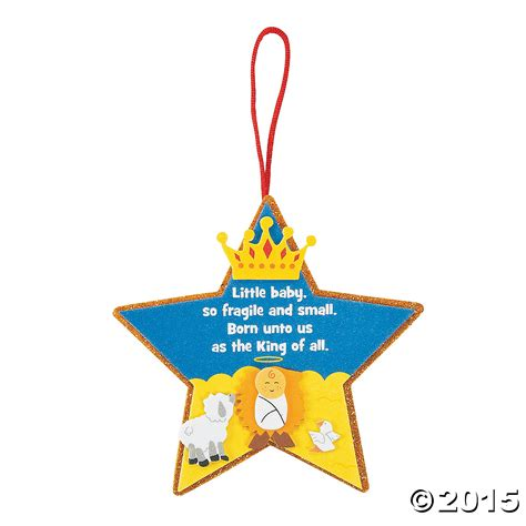religious born unto us the king ornament craft kit 12