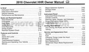 owners manual for chevrolet hhr book db