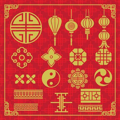 oriental pattern vector free download oriental icons design vector free download