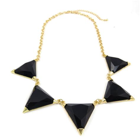 Harlow Black harlow black resin triangle bib necklace