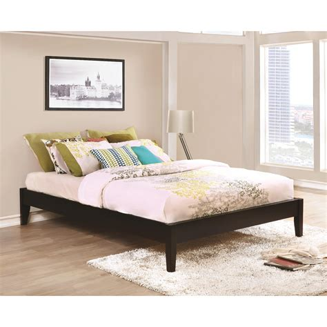 coaster hounslow twin platform bed  cappuccino finish