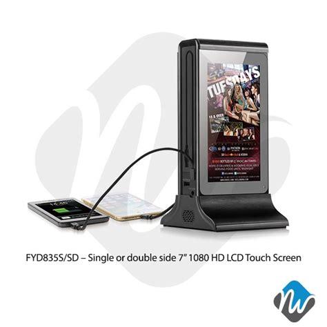 table top advertising display table top power bank advertising player digital display