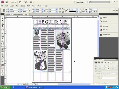 indesign newspaper layout tutorial lesson 04 designing a newspaper page with indesign part 2