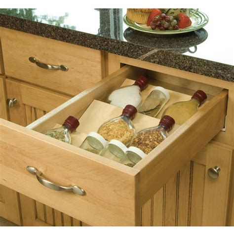 Spice Jar Drawer Insert by Drawer Organizer Wood Spice Tray Drawer Insert