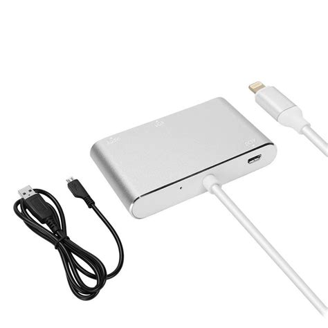 Lightning To Hdmi Vga Audio Konverter Iphone To Hdmi Vga Converter lightning to digital av multiport hdmi vga audio adapter
