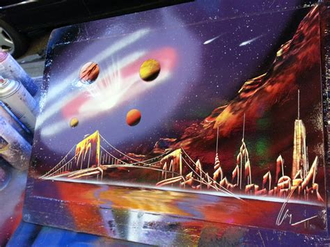 spray painting galaxy spray paint space painting