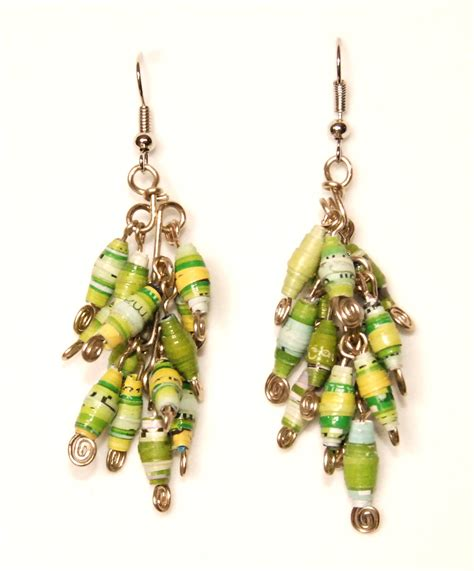 Paper Earring - the children of nica make jewelry the beading gem s