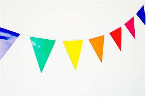 aliexpress buy 2packs 3 5m rainbow bunting decoration outdoor plastic flags birthday
