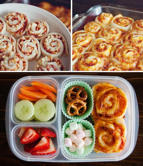 simple and healthy school lunch ideas pizza buns