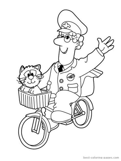 postman pat 22 cartoons printable coloring pages