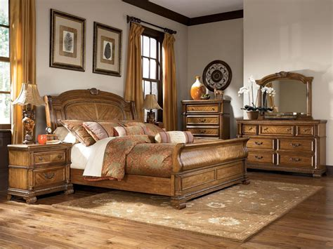 king sleigh bedroom set ashley millennium quot clearwater quot b680 king sleigh bedroom