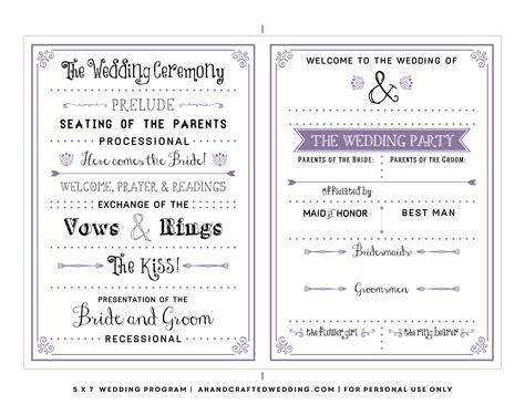 printable wedding program templates brittney taylor