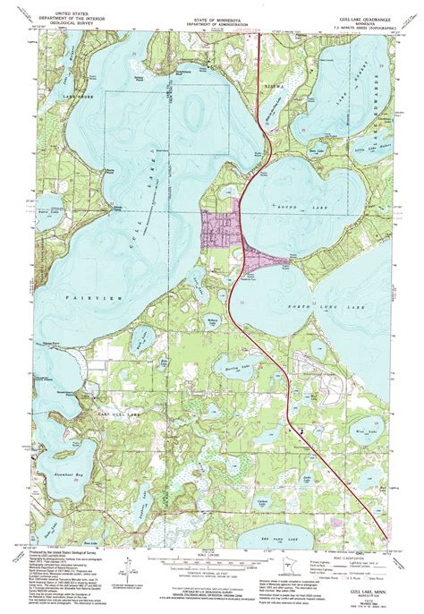 minnesota topographic map gull lake topographic map mn usgs topo 46094d3