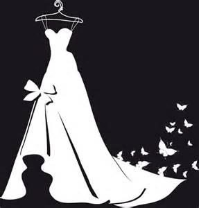 Beautiful wedding dress silhouette design vector free vector 371 23kb